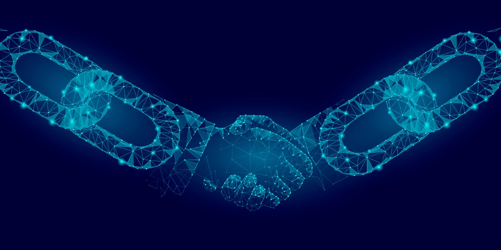 blockchain-technology-agreement-handshake-business-concept-low-poly-vector-id878457548